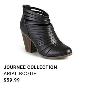 Journee Collection Black Arial Bootie